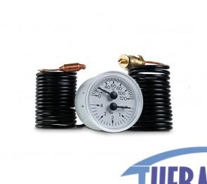Termoidrometro 0/4 Bar - 0/120° - Tondo D.40