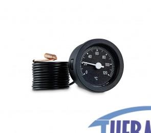 Termometro Capillare 0/120° Nero D.52