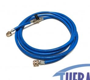 Flessibile con rubinetto R407/R22 - Blu - 3 MT