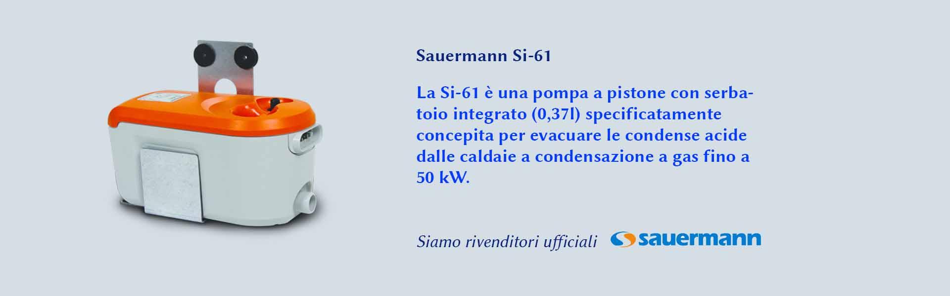 Si-61 Sauermann pompa pistone a serbatoio integrato