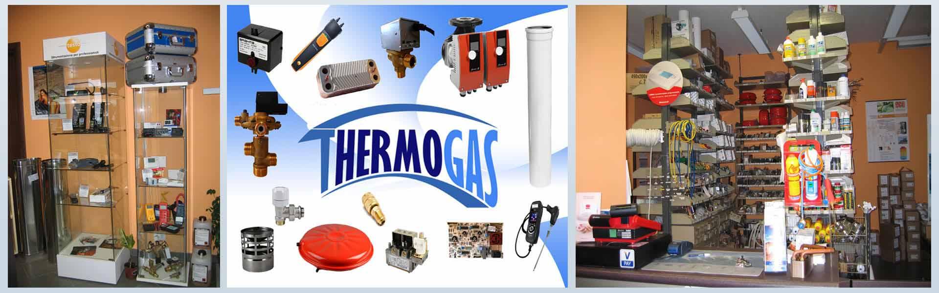 foto interna negozio dei prodotti di thermogas per ricambi caldaie e bruciatori